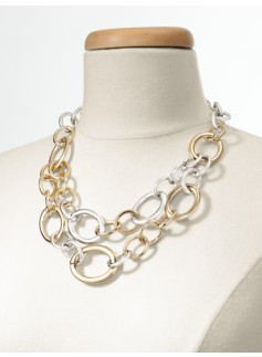 Two-Tone Double-Link Necklace