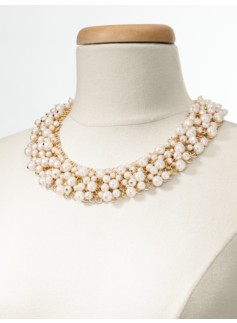 Pearl & Woven Chainmail Necklace