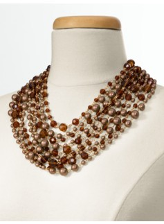 Colorblocked Pearl Necklace