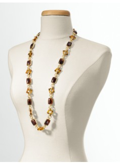 Pav� Rondels and Dome Chain Necklace