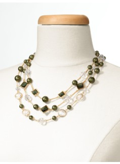Pearl and Channel Necklace