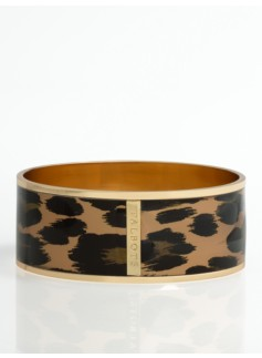 Leopard Enamel Bangle