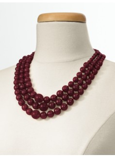Triple-Strand Bead Necklace