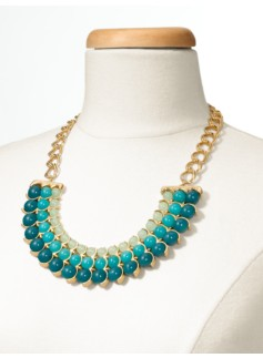 Triple Bead Collar Necklace