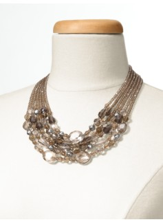 Multi-Row Faceted Bead Necklace