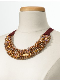 Woven Bead Collar Necklace
