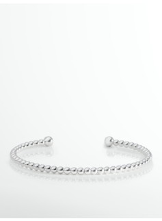 Sterling Silver Bead Cuff