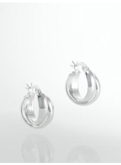 Sterling Silver Swirl Hoops