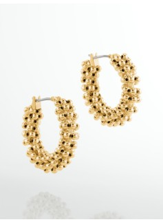 Bead-Wrapped Hoops