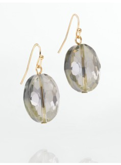 Faceted Stone Drop Earrings