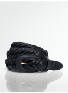 Womans Plus Leather Braided Belt