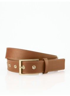 Woman Plus Leather Platino-Buckle Belt