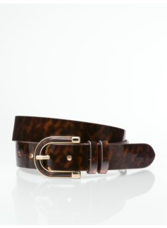 Womans Plus Faux-Patent Leather Belt
