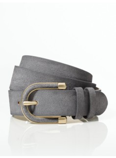 Womans Plus Suede Leather Belt