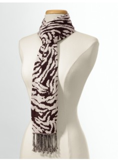 Animal Print Jacquard Scarf