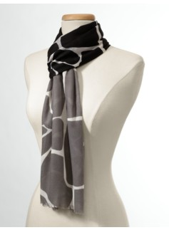 Colorblocked Giraffe Scarf