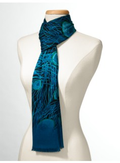 Peacock-Feather Scarf