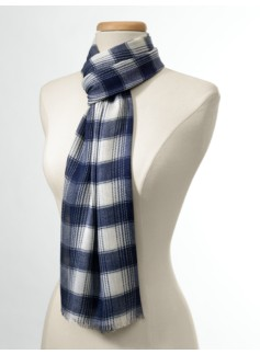 Ombr� Plaid Scarf