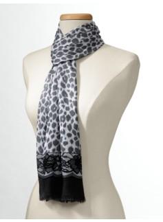 Leopard & Lace Print Scarf
