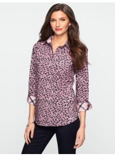 Flower Blooms Classic Cotton Shirt