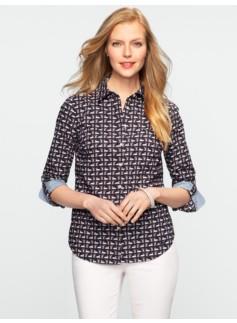 Swan-Print Cotton Shirt