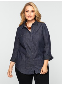Rinse Wash Denim Shirt