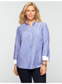Embroidered Mallards Oxford Cloth Shirt