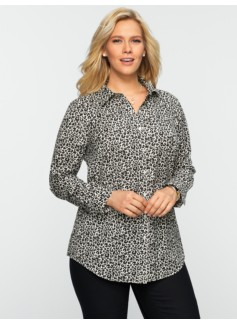 Wrinkle Resistant Mini-Animal Print Shirt