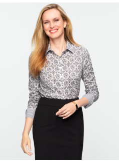 Wrinkle Resistant Medallion-Tile Shirt