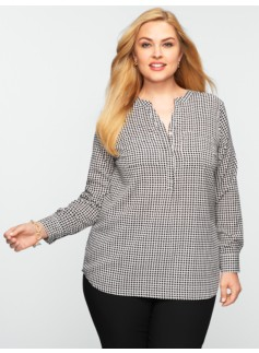 Diamond-Houndstooth Top