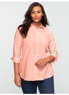Pintucked Clipped Dots Shirt