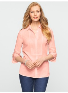 Pintucked Clipped Dots Shirt