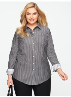 Wrinkle Resistant Fine Stripes Shirt