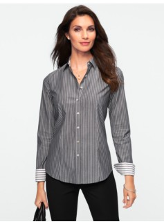 Wrinkle Resistant Fine Stripes Shirt