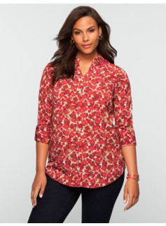 Modern Rose Print Nantucket Shirt