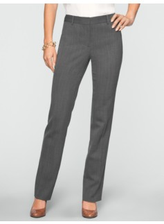 Signature Dobby-Weave Straight-Leg Pants