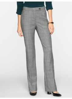Curvy Fit Glen Plaid Bootcut Pants
