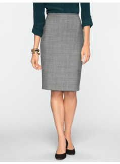 Glen Plaid Pencil Skirt