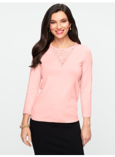 Lace-V Sweater