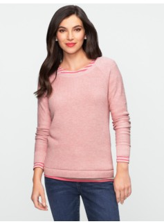 Talbots Comfy Elbow-Patch Sweater