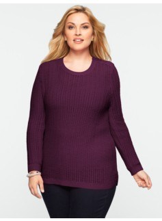 Talbots Cozy Shoulder-Button Sweater
