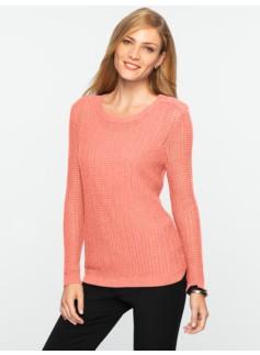 Talbots Cozy Shoulder-Button Sweater
