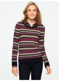 Beaded Fair Isle Sweater
