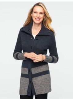 Winter Tweed Colorblocked Cardigan