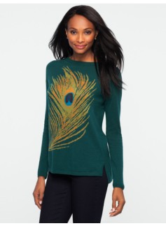 Peacock-Feather Sweater