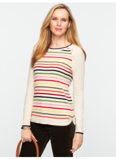 Talbots Cozy Block-Stripe Sweater