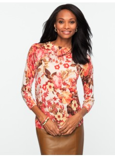 Merino Wool Floral Blooms Audrey Sweater