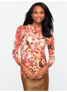Merino Wool Floral Blooms Audrey Sweater