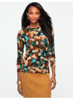 Rose-Print Audrey Sweater