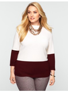 Merino Colorblocked Audrey Sweater